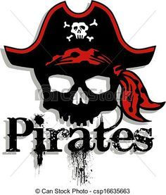 Pirate Skull Clip Art.