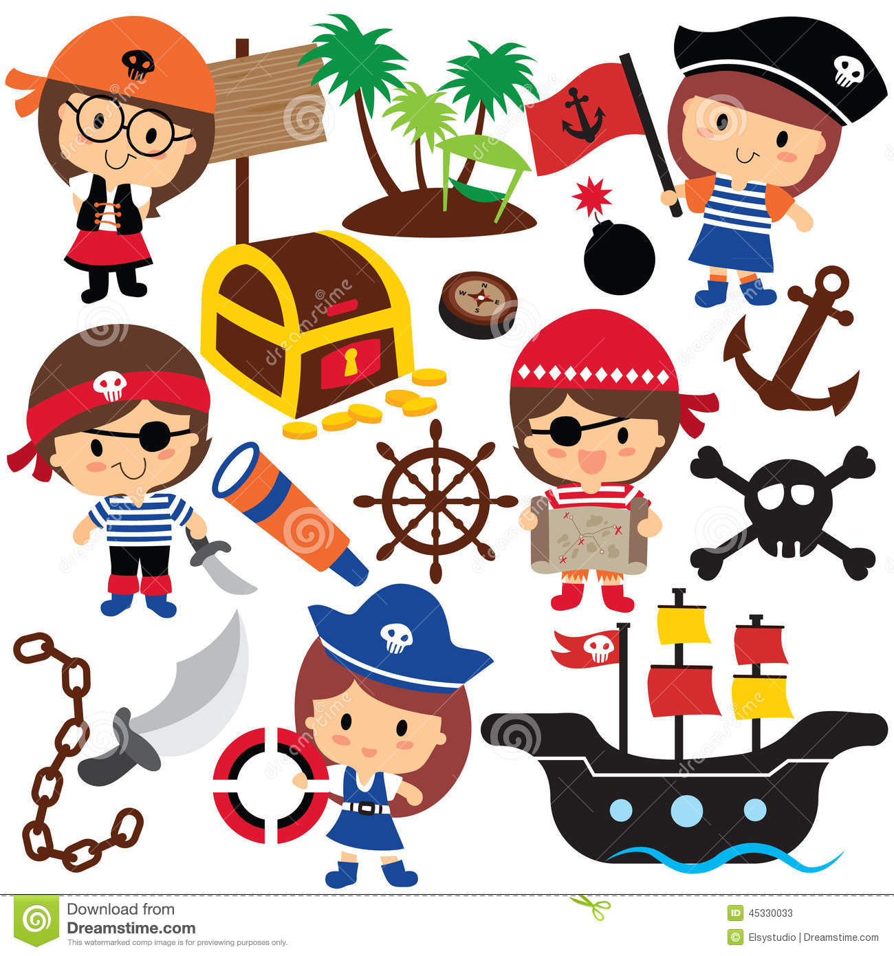 390 Pirates free clipart.