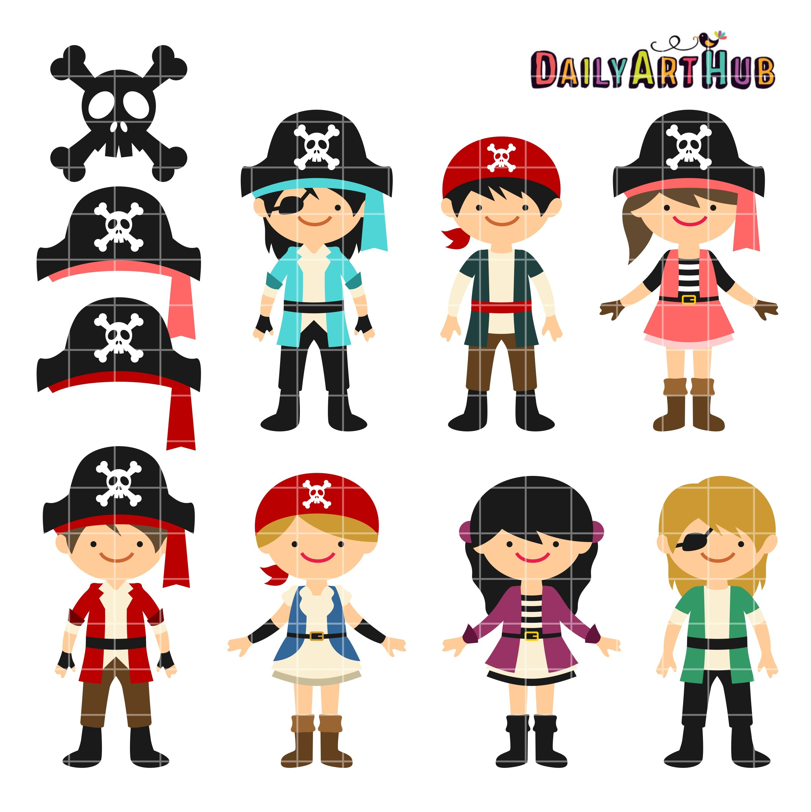 Pirates Clip Art Set.