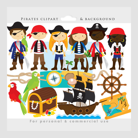 392 Pirates free clipart.