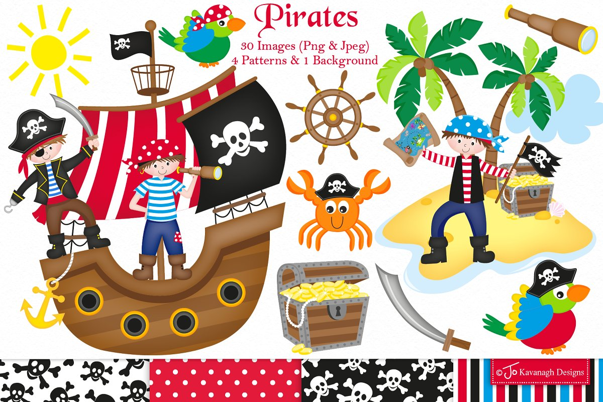 Pirate clipart, Pirates.