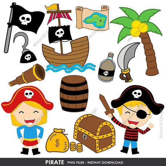 Pirate Clipart, Cute Pirates Clip Art, Pirate Boy Girl Clip.