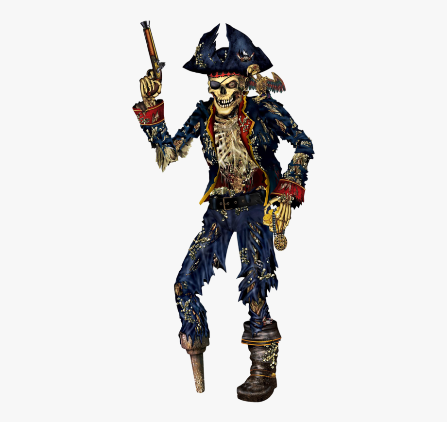 Skeleton Skull Piracy Joint Party Pirate Clipart.