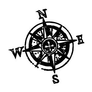 Kompass/Windrose Grafik für Einladung und Co.(free craft.