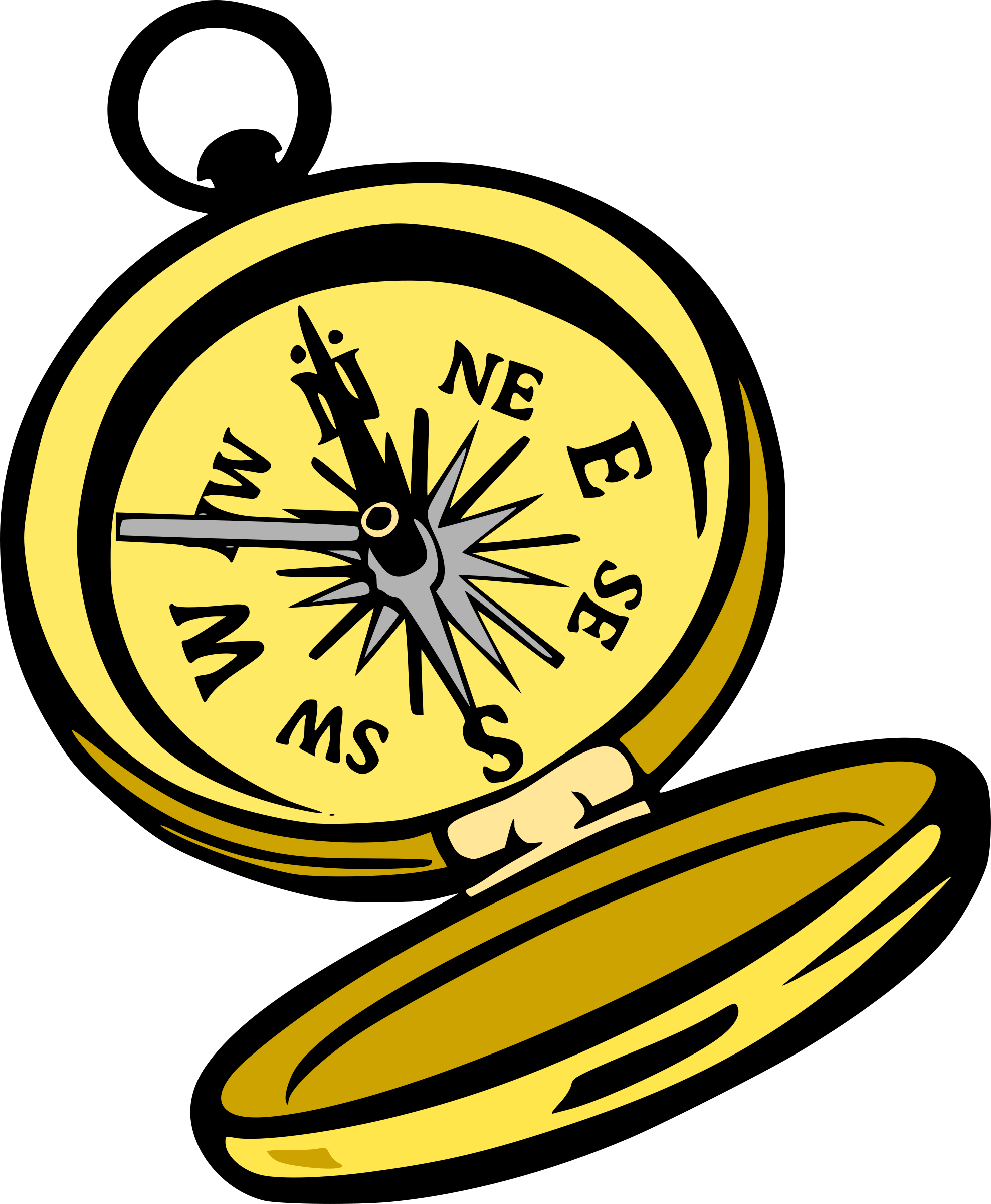 Pirate Compass Clipart.