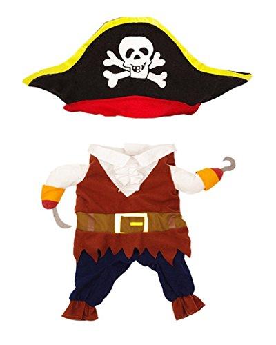 Amazon.com : Vedem Dog Cat Pirate Costume Jumpsuit Outfit.