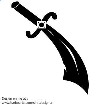 Dagger Clipart Black.