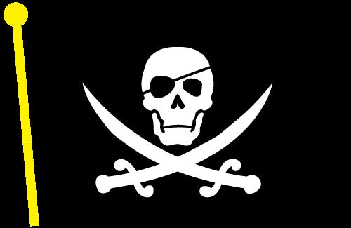 Pirate Clip Art Black Skull And Crossed Bones.