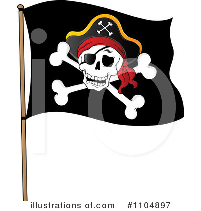 Pirate Flag Clipart #1104897.
