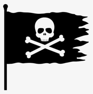 Free Pirate Flag Clip Art with No Background.