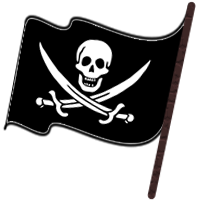 Pirate Flag Clipart Black And White.