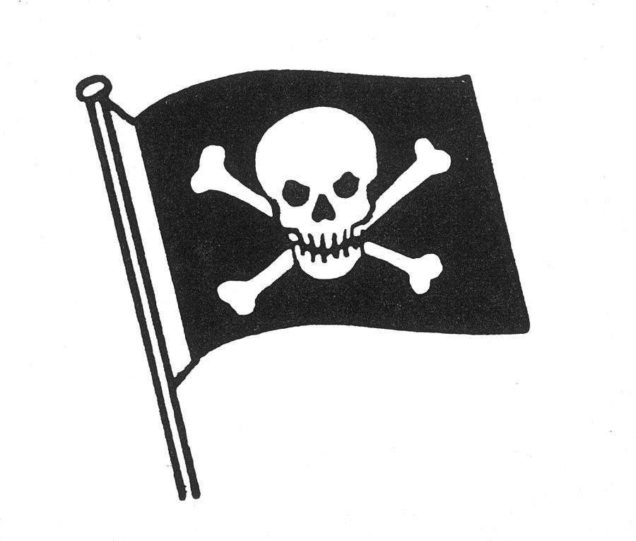 Pirate flag showing media clip art.
