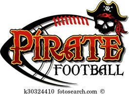 Pirate football Clip Art Vector Graphics. 48 pirate football EPS.