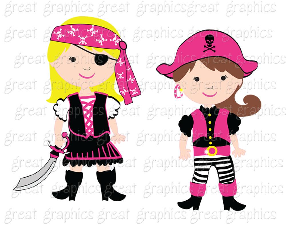 Pirate Girl Artwork Clipart Free.