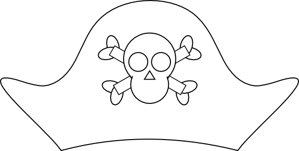 Pirate Hat Template Printable.