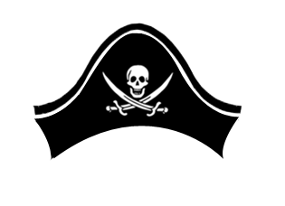 Pirate Hat Skull transparent PNG.
