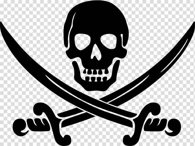 Piracy Logo , creative skull transparent background PNG.
