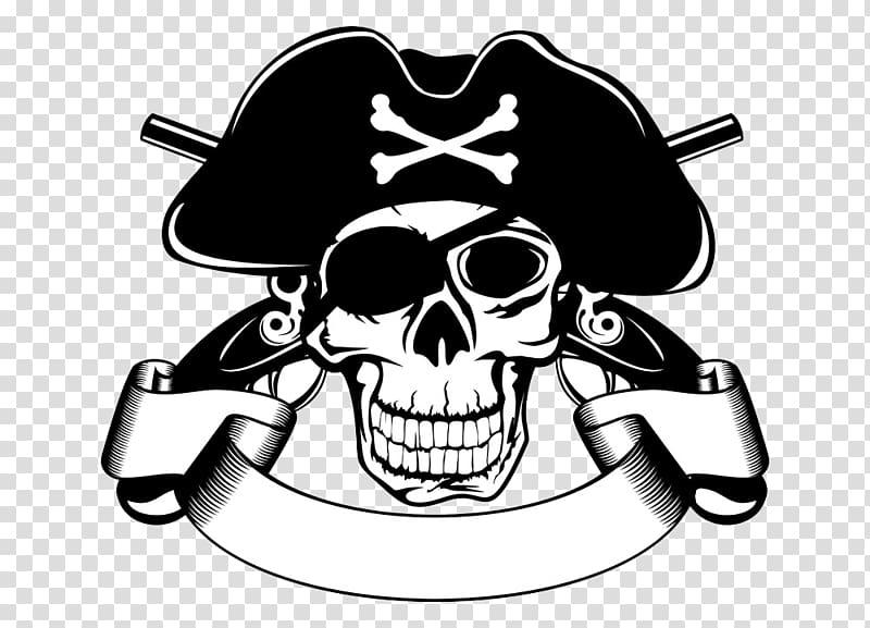 Piracy Skull illustration , Pirate Skull transparent.