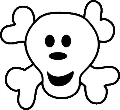 Cute Skeleton Clip Art.