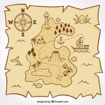 Treasure Map Vectors, Photos and PSD files.