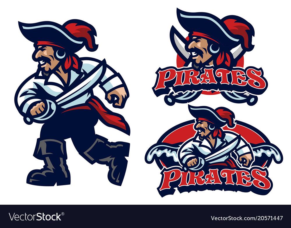 Pirate mascot set » Clipart Station.