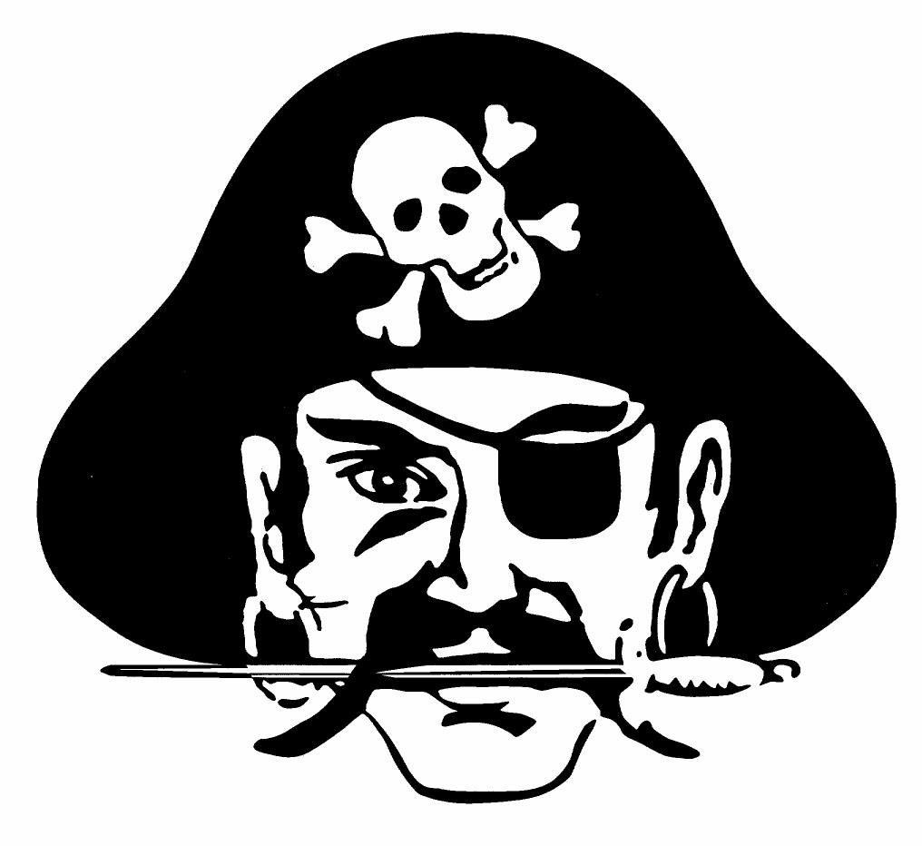Pirate mascot clipart.