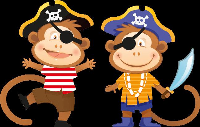 baby pirate monkeys cartoon boy cute cutie boat monkey.