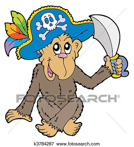Pirate monkey clipart 6 » Clipart Portal.