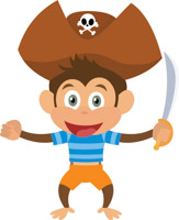 Pirate monkey clipart 5162 » Clipart Station.