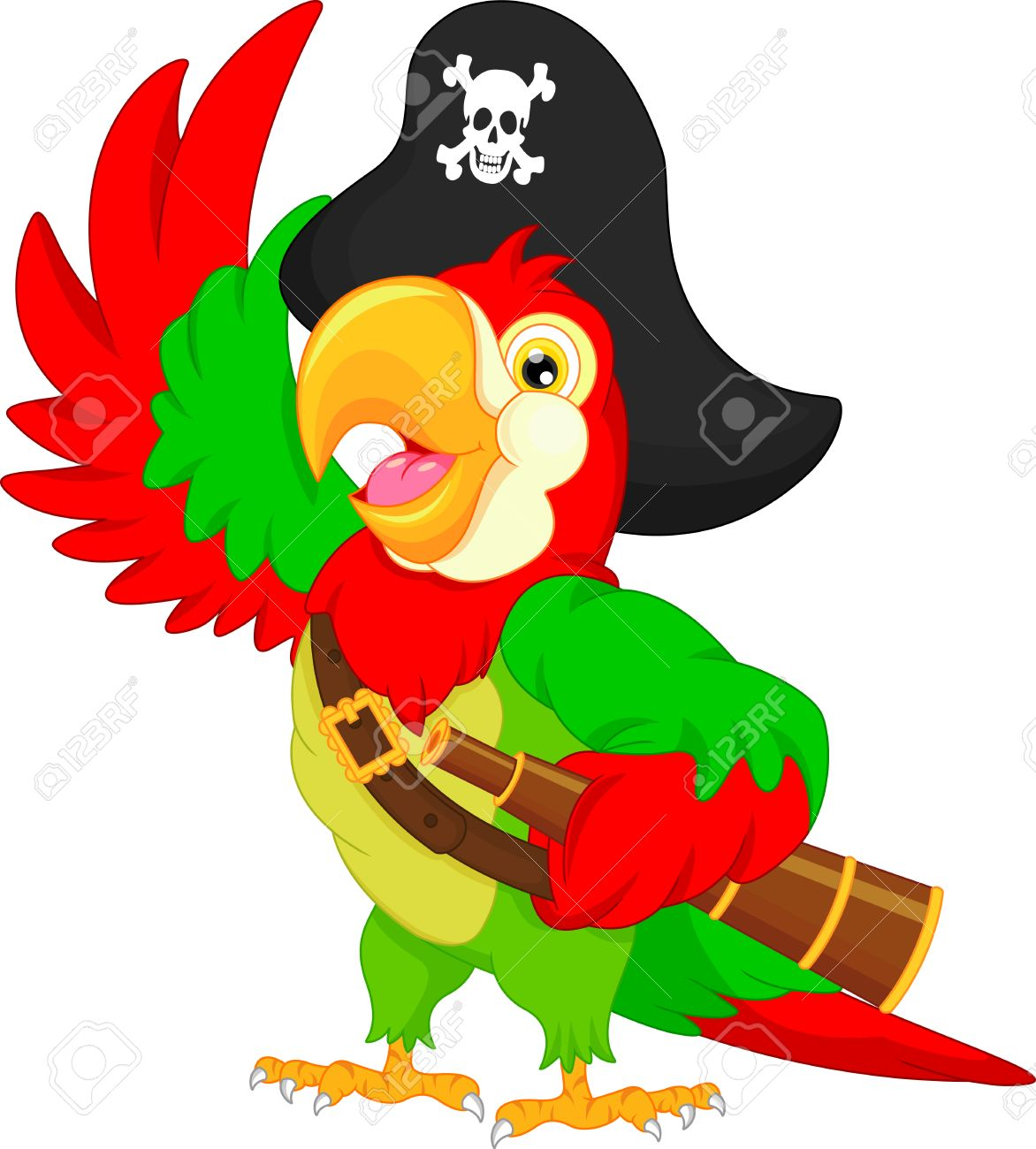 Pirate parrot clipart 2 » Clipart Station.