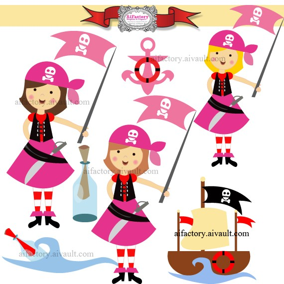 Pirate Party Clipart.