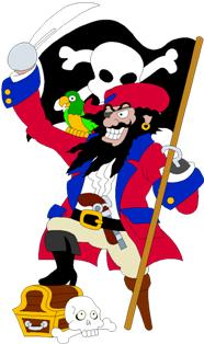 Pirate party clipart #13