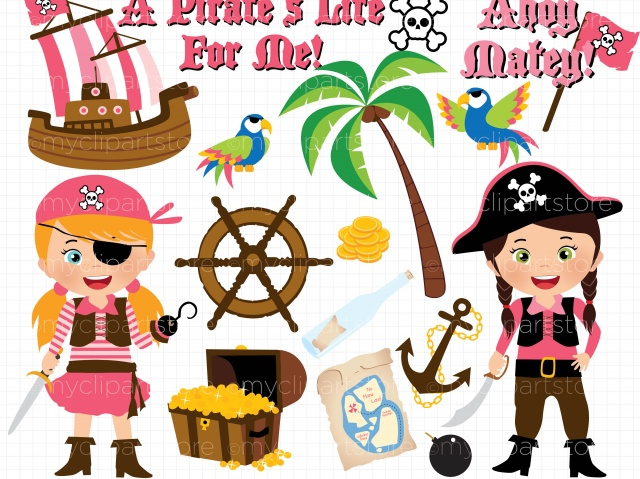 Pirate party clipart #17