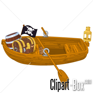 CLIPART PIRATE ROWBOAT.