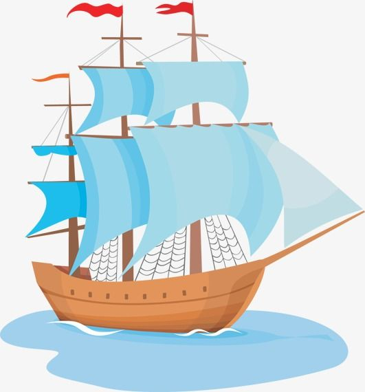 Pirate Ship, Pirate Clipart, Ship Clipart, Wooden Boat PNG.