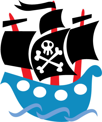 Free pirate ship clipart 2.