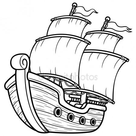 Pirate ship clipart black and white 3 » Clipart Station.