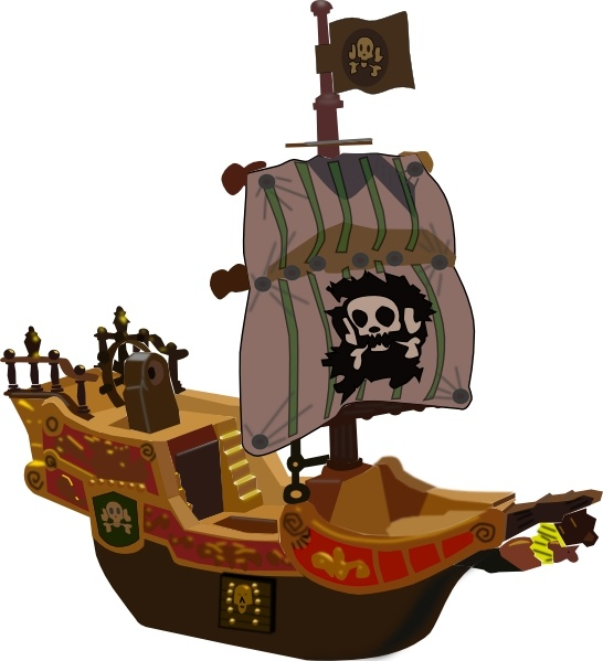 Pirate Ship clip art Free vector in Open office drawing svg.
