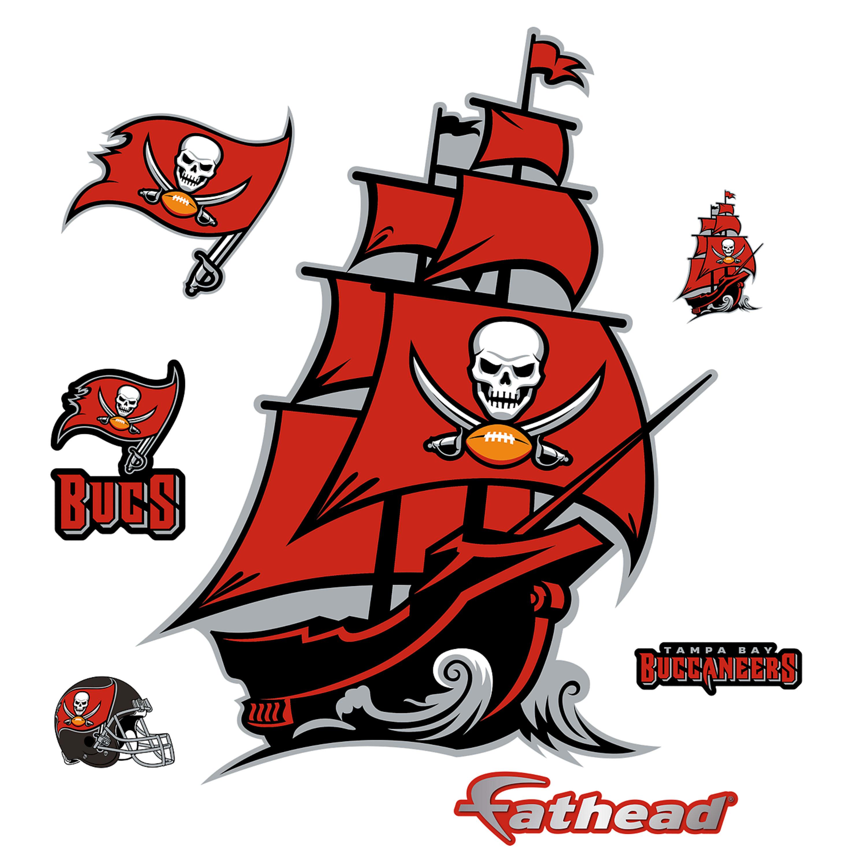Tampa Bay Buccaneers: Pirate Ship Logo.