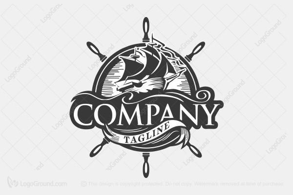 Exclusive Logo 50063, Pirate Ship Logo.