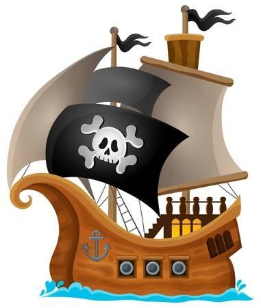 Pirate Ship Clipart 1.
