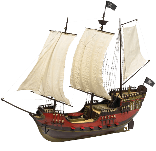 Pirate Ship transparent background.