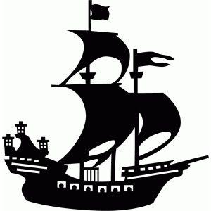 Pirate ship silhouette.
