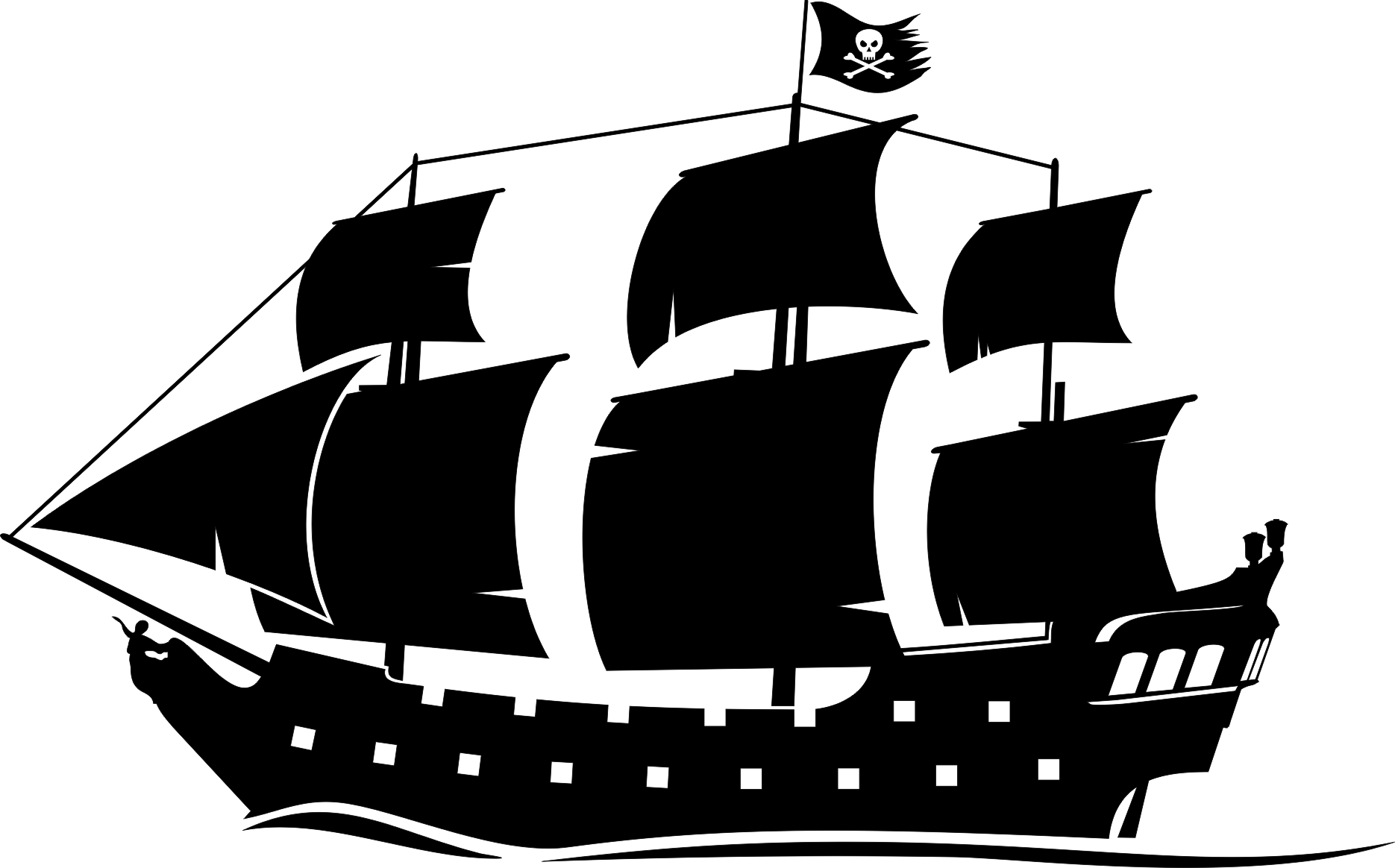 pirate ship drawings silhouette clip art.