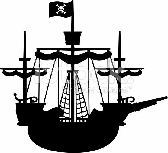 pirate ship silhouette.