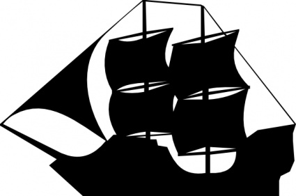 Pirate Ship Vector.