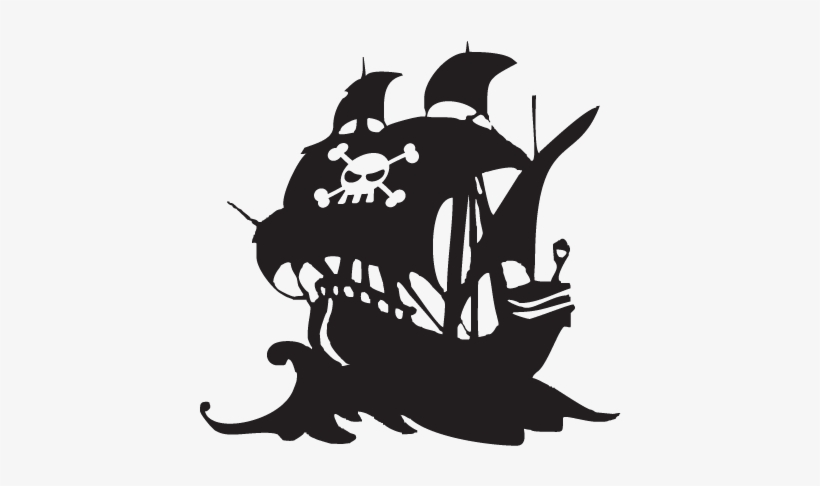 Pirate Ship Silhouette Png PNG Image.