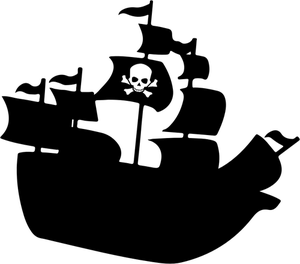 685 free pirate ship vector.