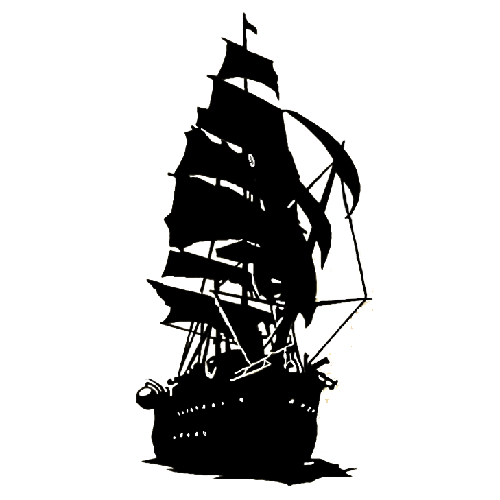 Pirate ship Die Cut Vinyl Decal PV1900.