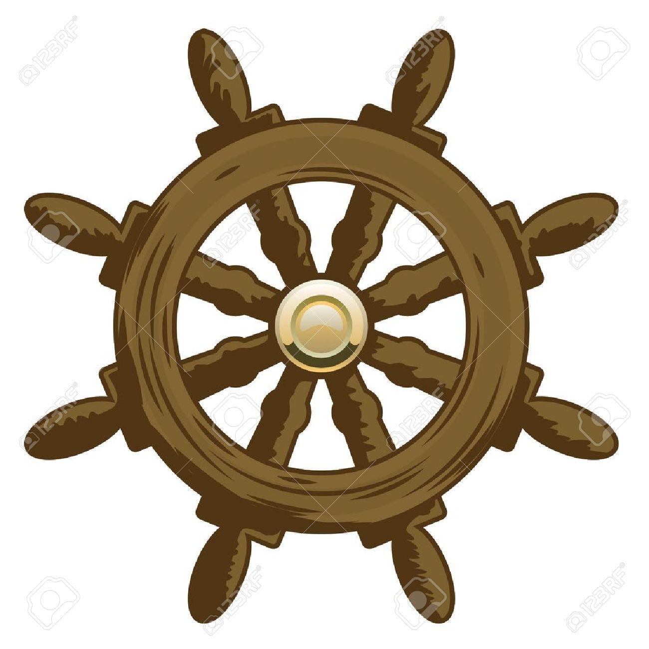 Ship Wheel Clipart.